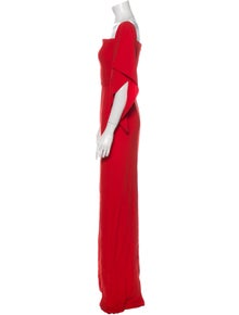 Roland Mouret Square Neckline Long Dress