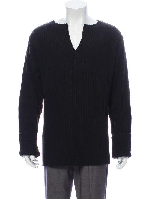 Romeo Gigli Wool V-Neck Pullover Wool