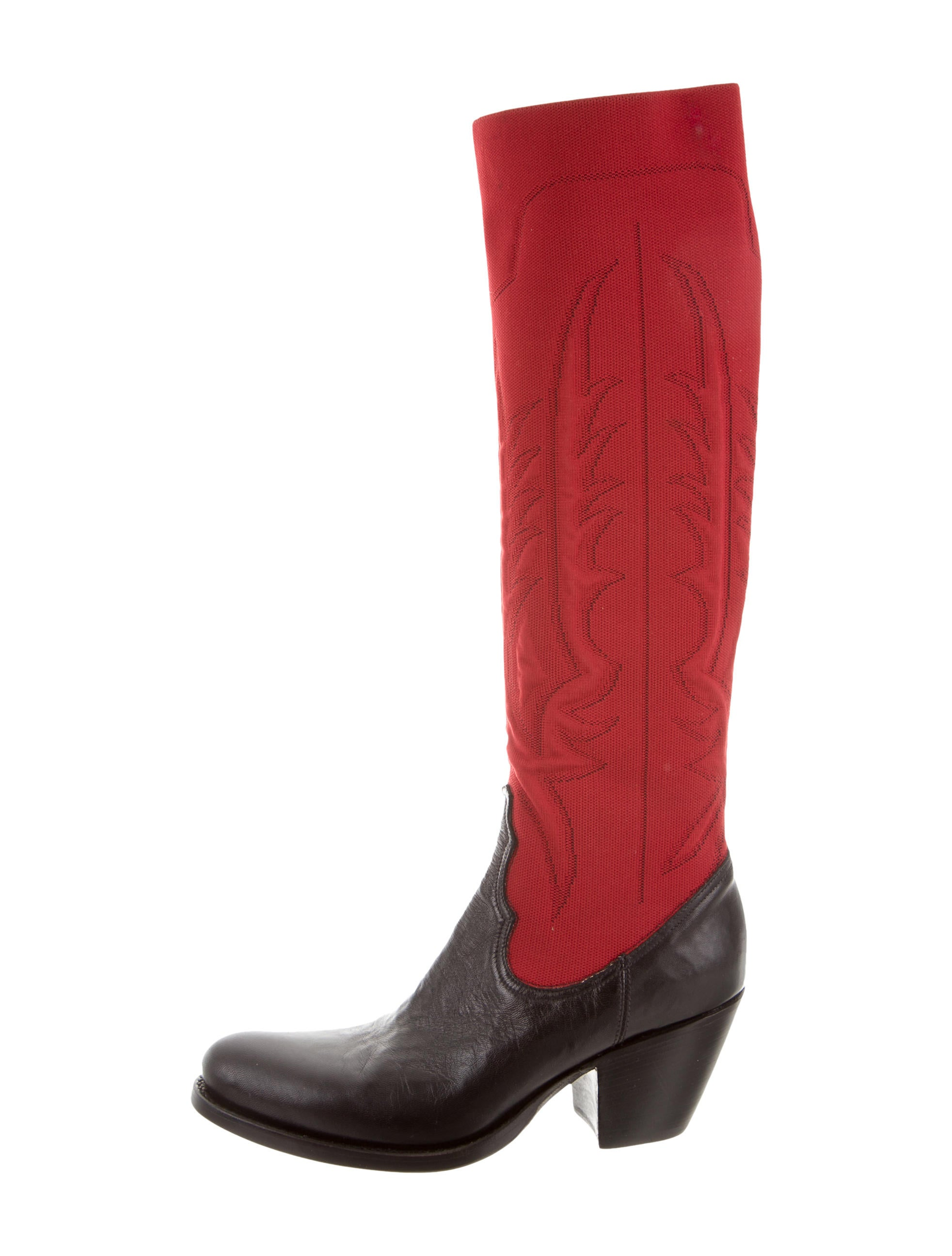 buy cheap with mastercard Rocco P. Embroidered Knee-High Boots w/ Tags for cheap WApIX