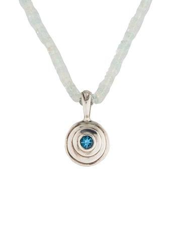 Robin Rotenier Aquamarine & Blue Topaz Pendant Necklace