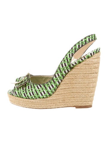 Roger Vivier Buckle-Accented Wedge Sandals None