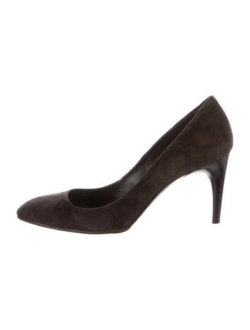 Roger Vivier Suede Pointed-Toe Pumps None