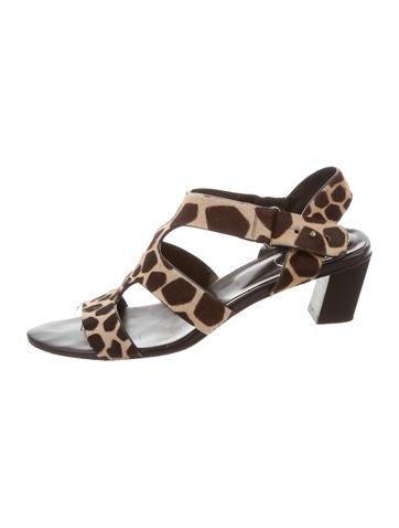 Roger Vivier Giraffe Print Sandals