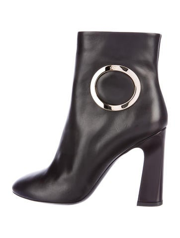 Roger Vivier Anneau Leather Buckle-Accented Boots None