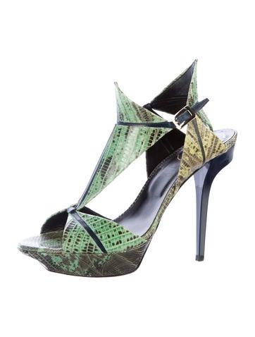 Lizard Platform Sandals