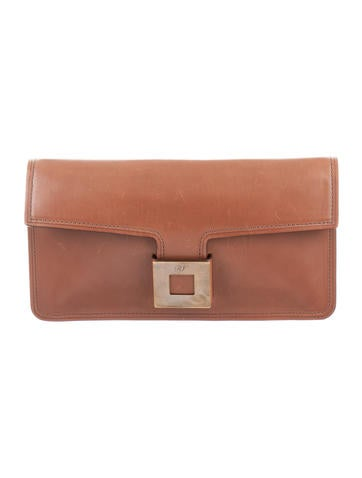 Roger Vivier Smooth Leather Clutch None