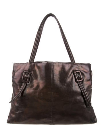 Roger Vivier Buckle Leather Tote None
