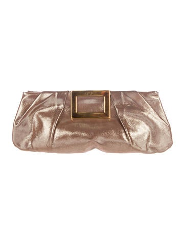 Roger Vivier Metallic Clutch None