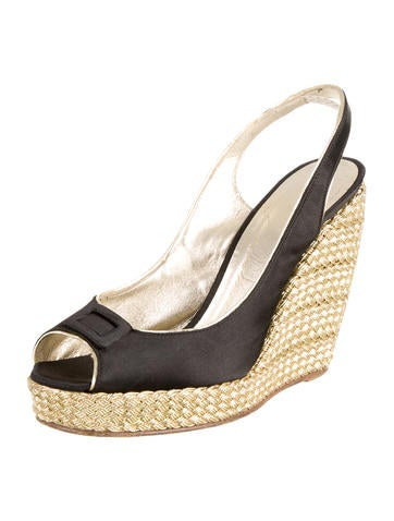 Peep-Toe Wedge Sandals