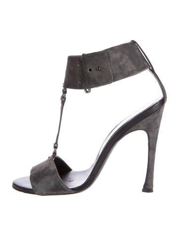 Roger Vivier Suede Ankle-Strap Sandals