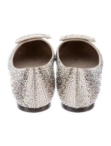 Embellished Buckle Flats