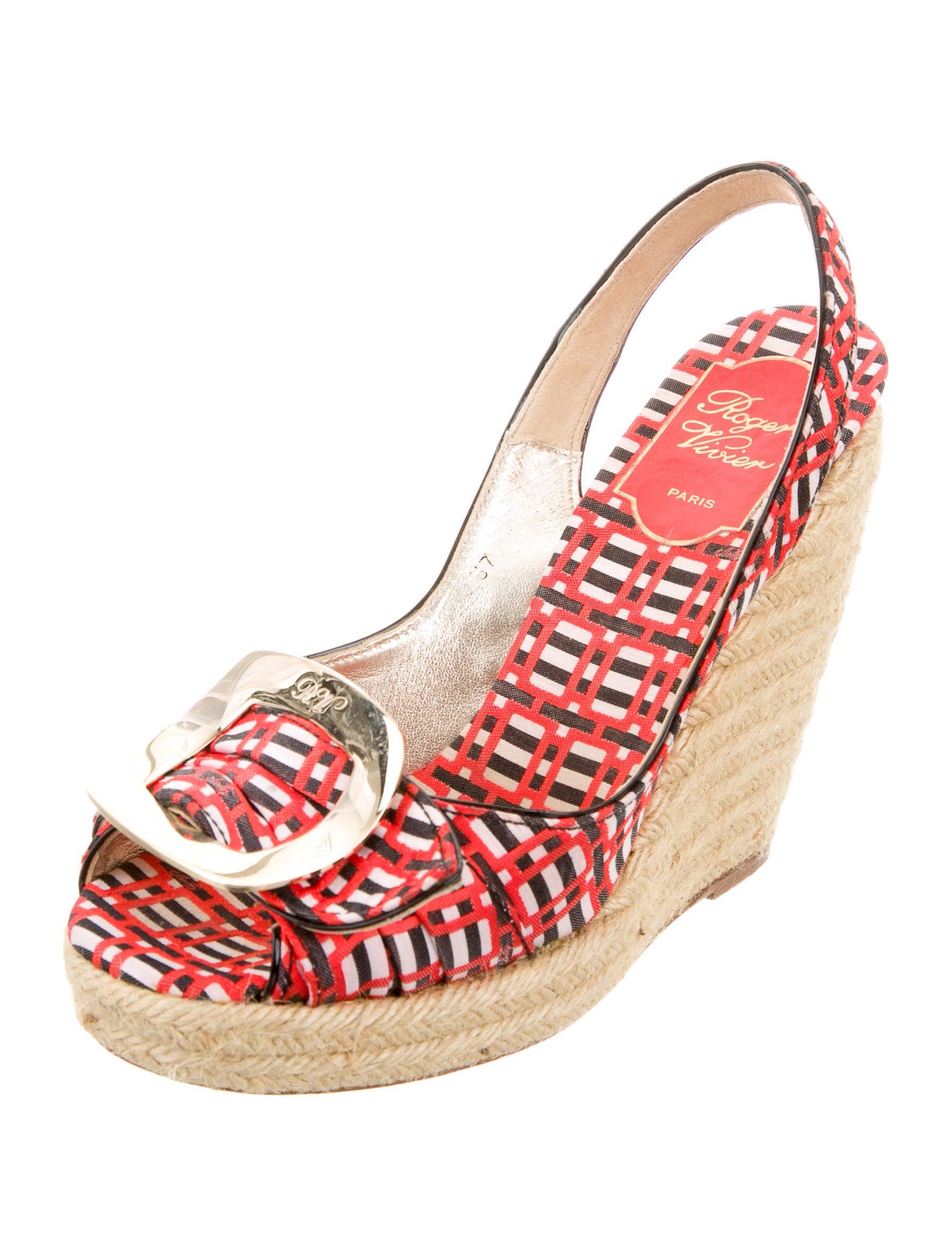 roger vivier espadrille wedge sandals shoes rov25305