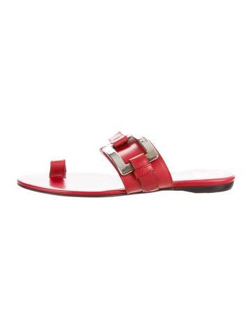 Roger Vivier Buckle-Accented Slide Sandals None