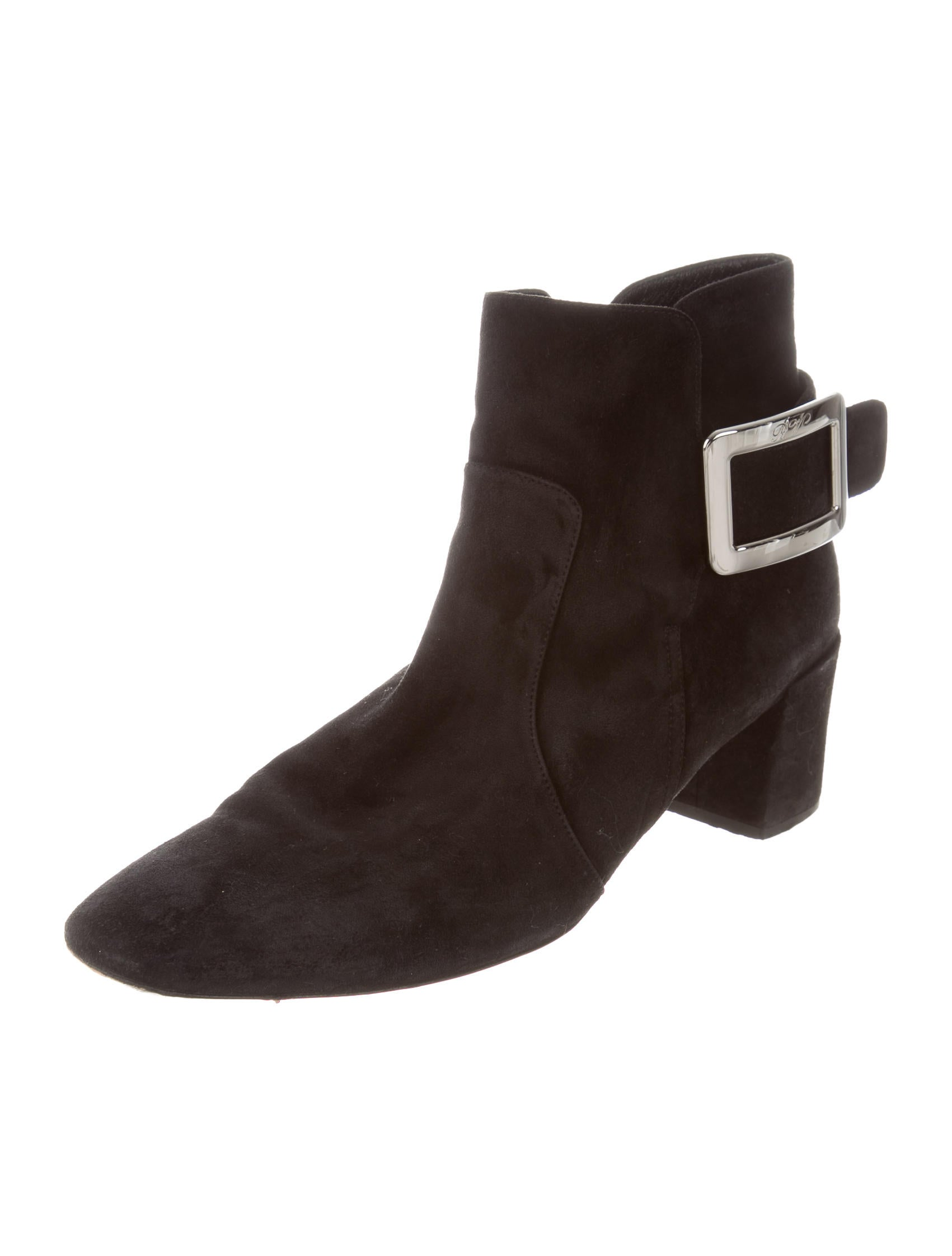 roger vivier suede buckle boots shoes rov25678 the realreal
