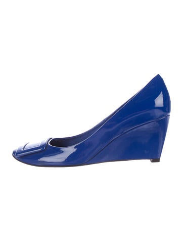 Roger Vivier Patent Leather Wedges None