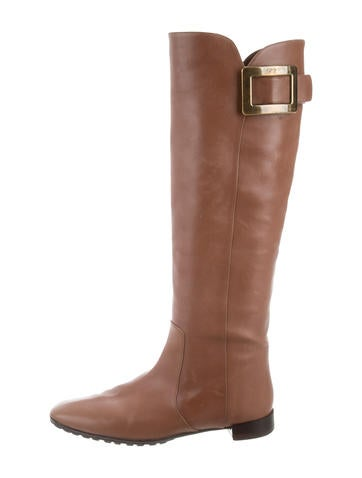 Roger Vivier Buckle-Accented  Knee-High Boots None