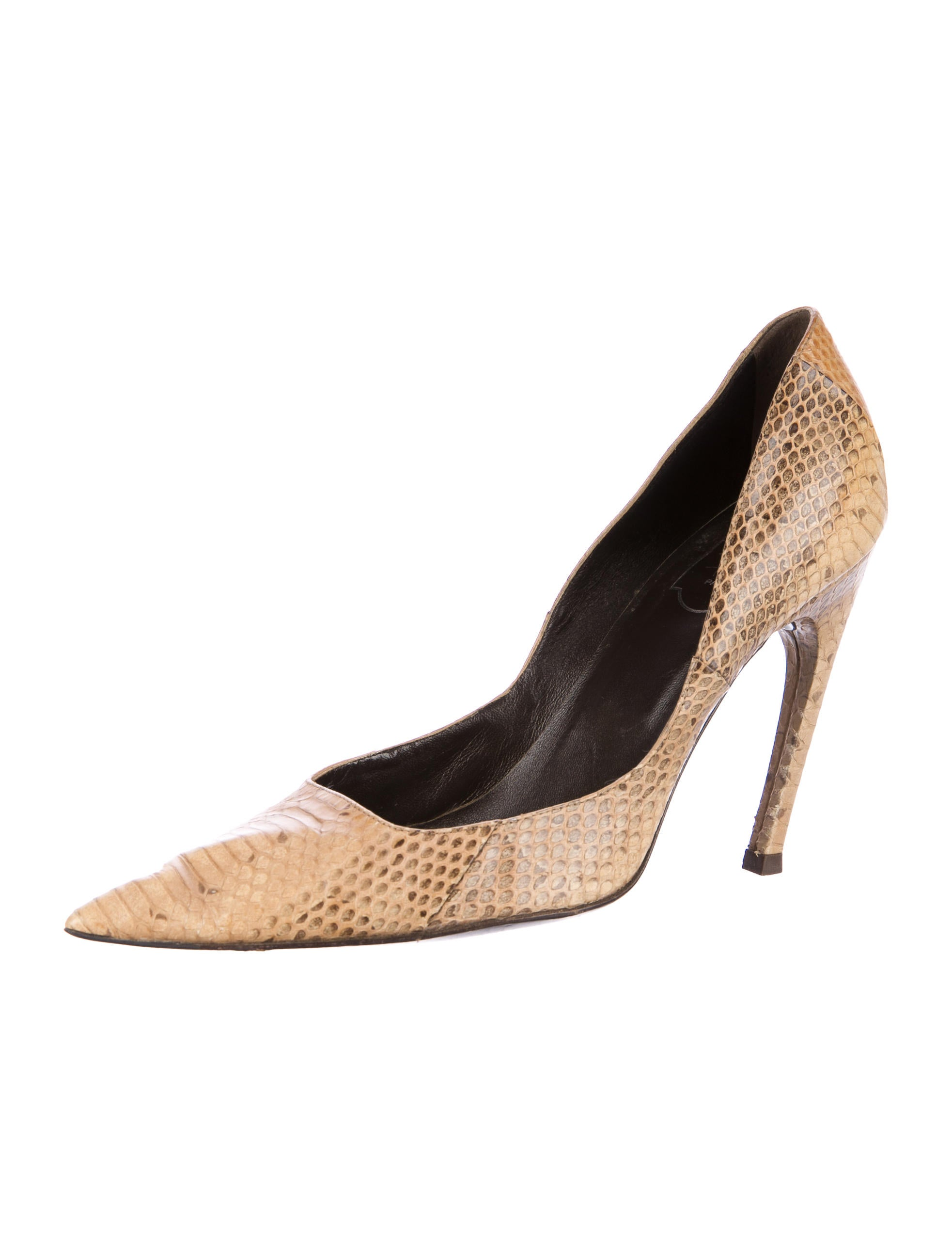 Roger Vivier Python Pointed-Toe Pumps official sale online cheap extremely eMSs819