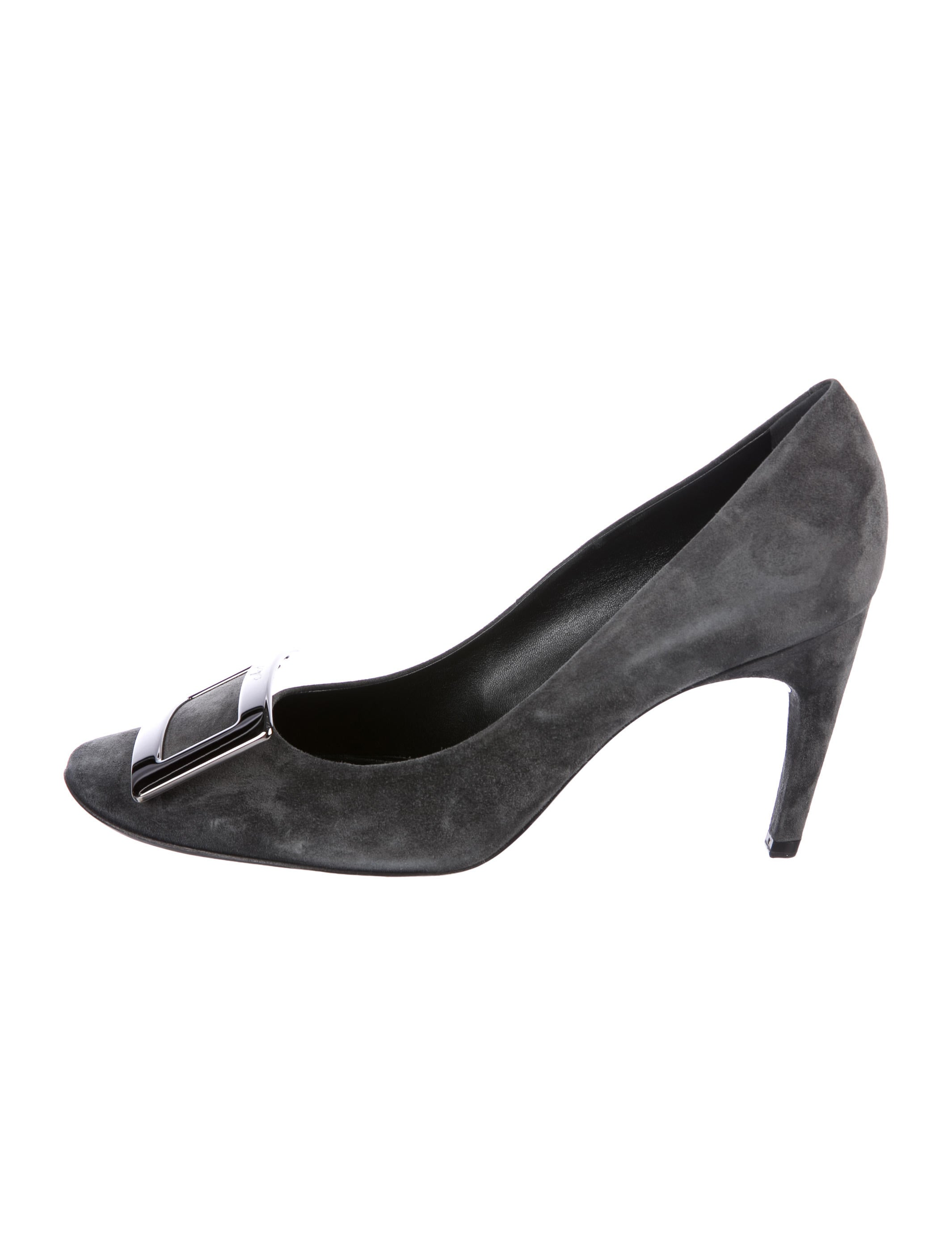 Roger Vivier Buckle-Accented Suede Pumps w/ Tags cheap sale geniue stockist kABh7pC