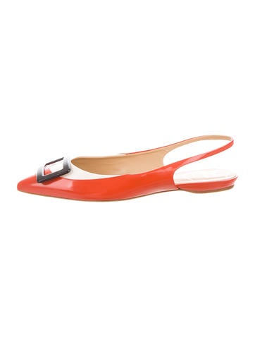 Roger Vivier Slingback Buckle-Accented Flats None