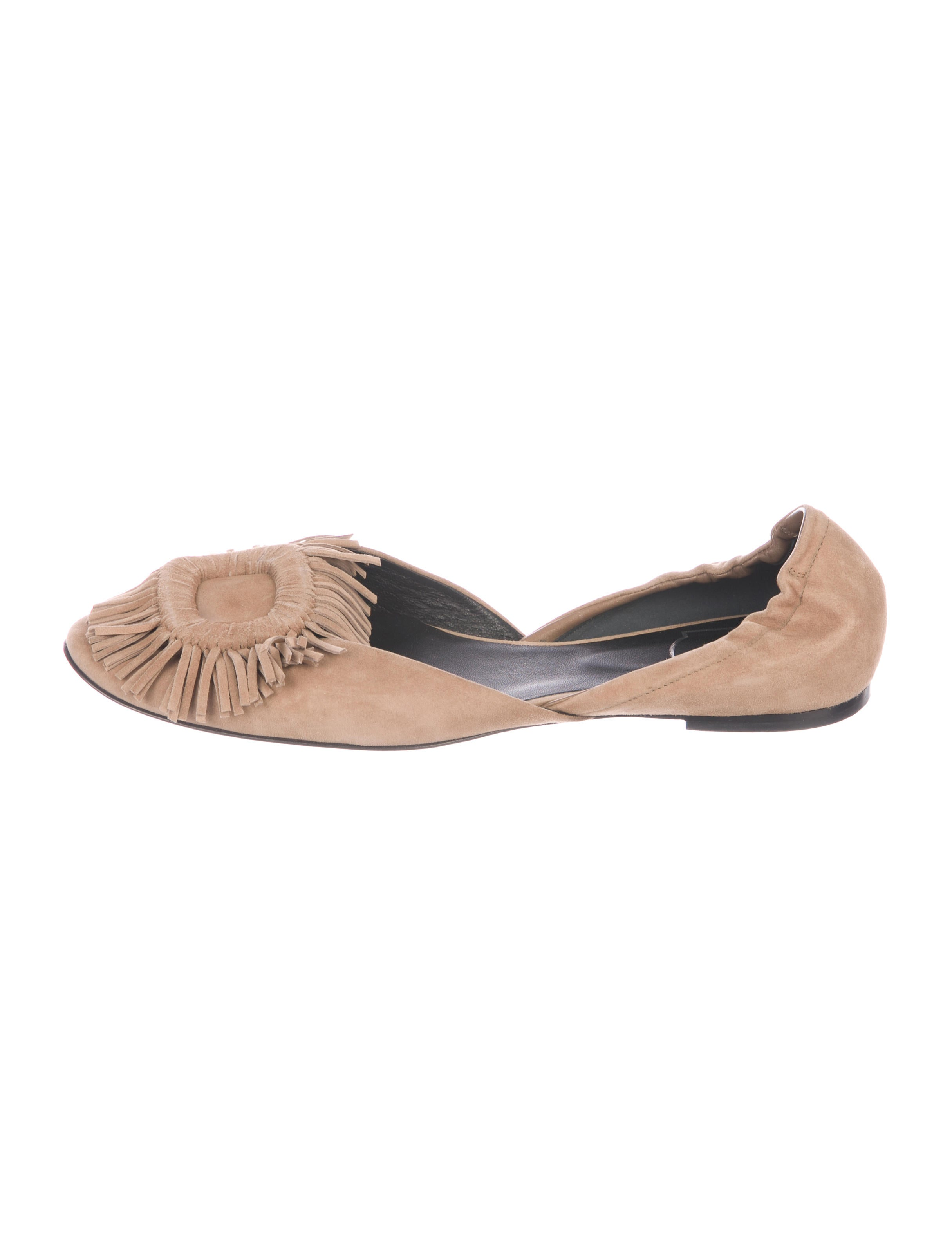 Roger Vivier Chips Fringed d'Orsay Flats deals cheap online discount authentic buy cheap nicekicks zqrZGg1t