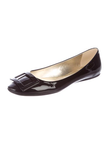 Roger Vivier. Patent Leather Buckle Flats