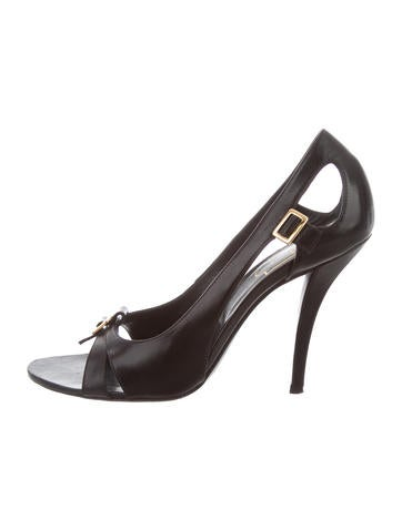 Roger Vivier Buckle-Accented Cutout Sandals None
