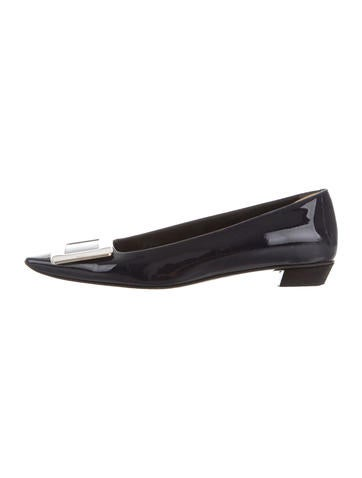Roger Vivier Patent Leather Buckle-Accented Pumps None