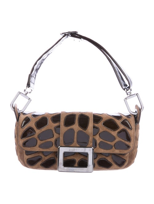 8bd2bbe487de Roger Vivier Patent Leather   Suede Shoulder Bag - Handbags ...