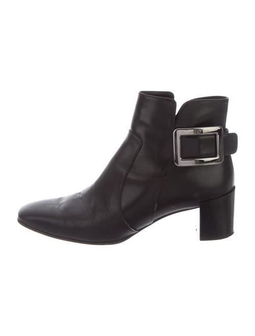 Roger Vivier Leather Boots Black