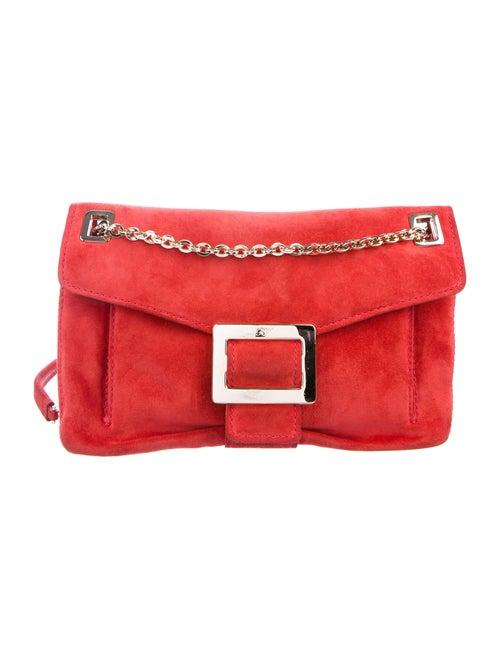 Roger Vivier Suede Shoulder Bag Red