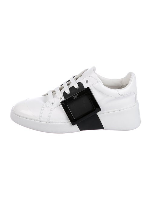 Roger Vivier Signature Logo Leather Sneakers White