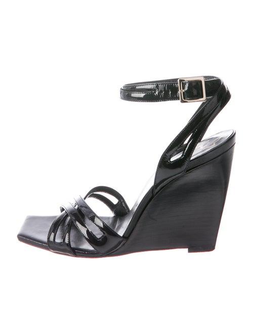 Roger Vivier Patent Leather Sandals Black