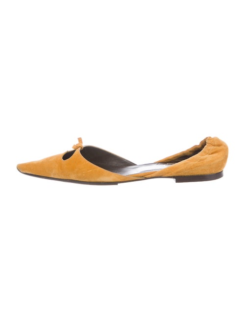 Roger Vivier Suede D'Orsay Flats Yellow