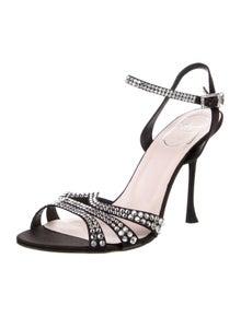 Roger Vivier Crystal Embellishments Sandals
