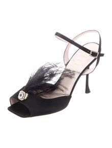 Roger Vivier Crystal Embellishments Slingback Sandals