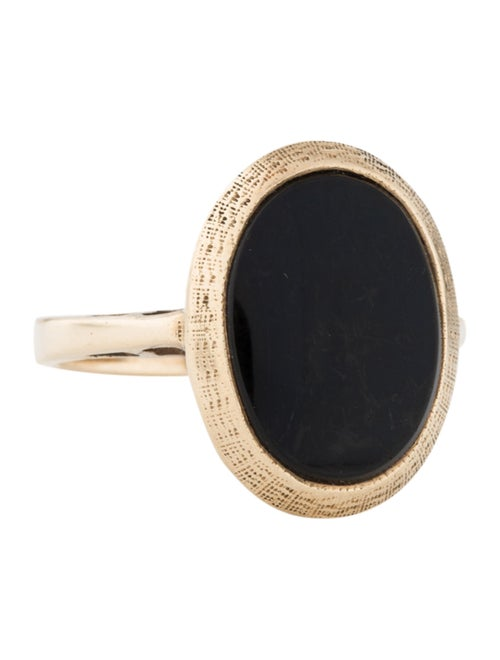 14K Onyx Cocktail Ring yellow