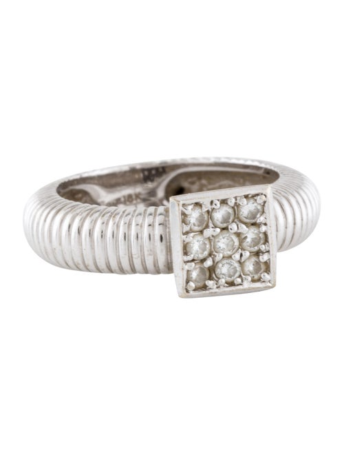 18K Diamond Cocktail Ring white