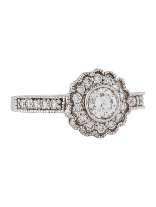 14K Diamond Cocktail Ring white