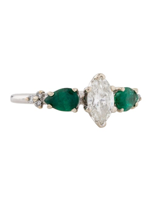 Diamond & Emerald Cocktail Ring