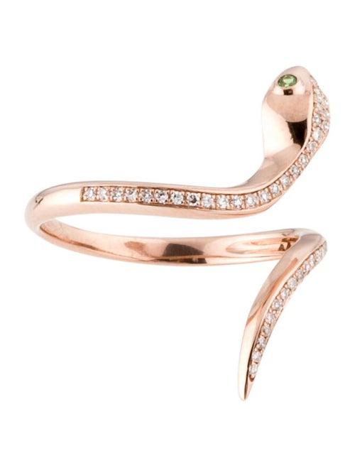 Ring 14K Tsavorite & Diamond Snake Cocktail Ring r