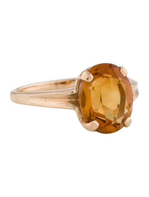 Ring 14K Citrine Cocktail Ring yellow