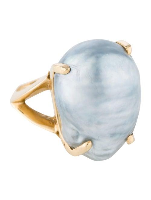 14K Pearl Ring yellow