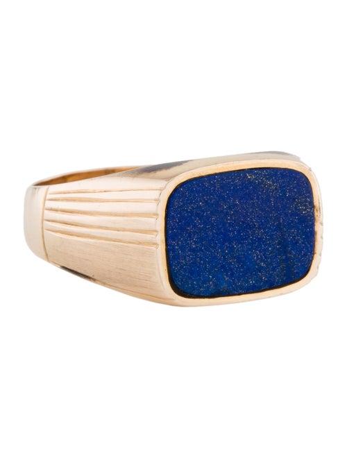 14K Lapis Lazuli Signet Ring yellow