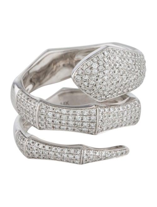 14K Diamond Snake Ring white
