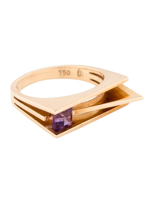 18K Amethyst Cocktail Ring yellow