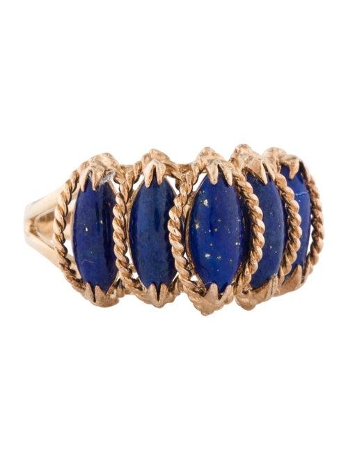 14K Lapis Lazuli Cocktail Ring yellow