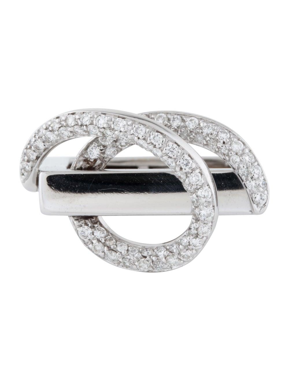 18K Diamond Cocktail Ring white - image 3