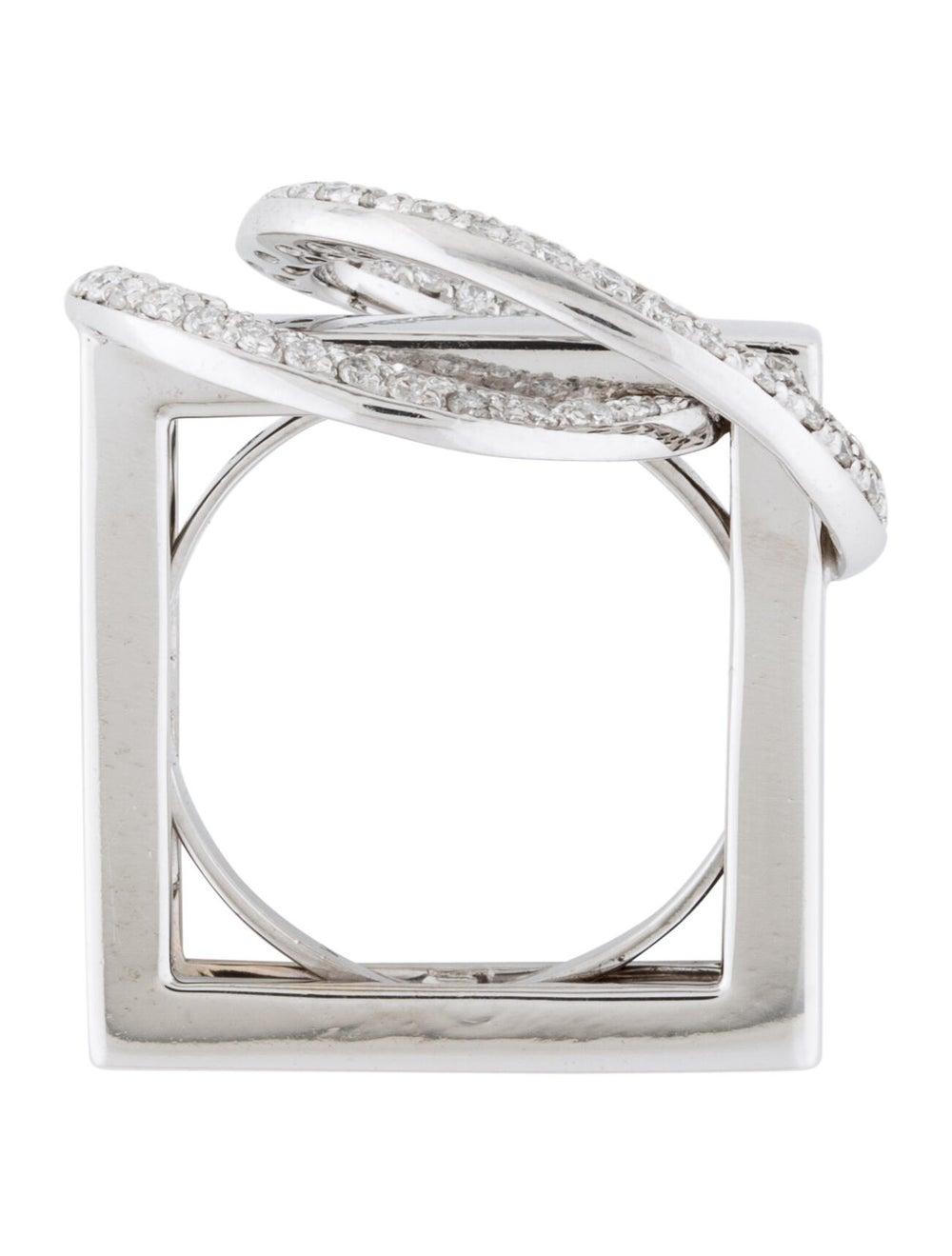 18K Diamond Cocktail Ring white - image 5