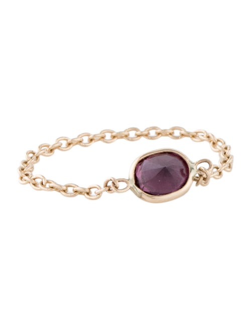 14K Spinel Chain Ring yellow
