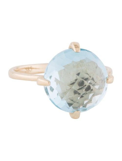 14K Topaz Cocktail Ring yellow